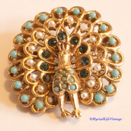 Etsy GV127 Peacock brooch 5CR
