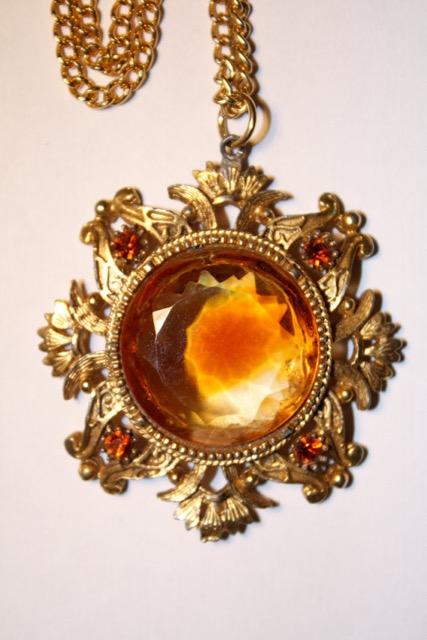 Etsy vintage flame pendant